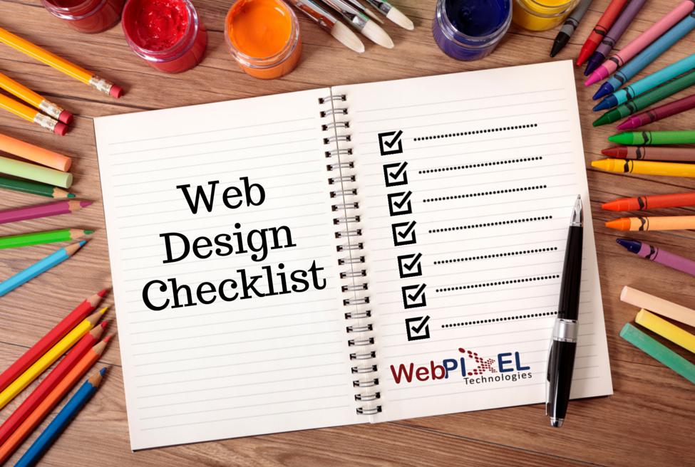 Web design checklist website design guidelines for Custom home design checklist