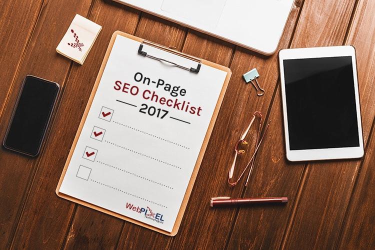 On Page SEO Checklist 2017