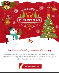 Last minute web design strategy for the christmas holidays for Christmas newsletter design ideas