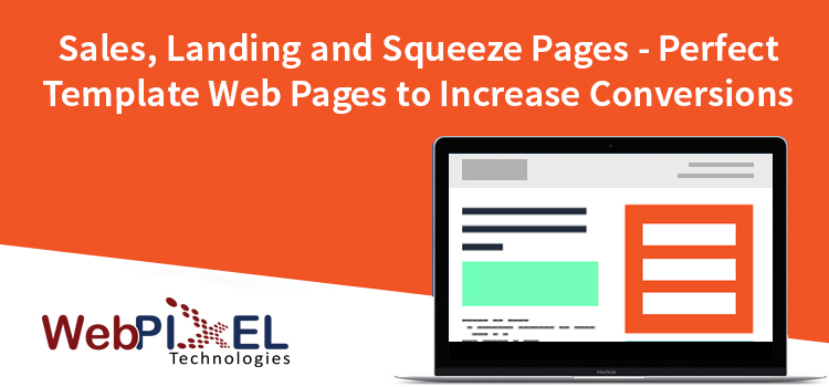Sales pages landing page and squeeze pages template design for Wordpress squeeze page template