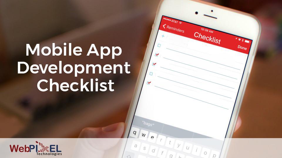 Mobile app development checklist