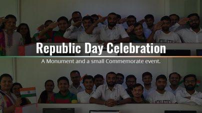 Republic Day Celebration – A Monument & A Small Commemorate Event